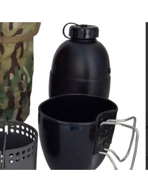 "Bushcraft cucina ""Drago"" Crusader MKII-6 pezzi - Nero"