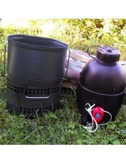 """Bushcraft de cocina """"Dragón"""" Crusader MKII-6 piezas - Negro"""