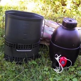 """Bushcraft de cocina """"Dragón"""" Crusader MKII-6 piezas - Camo"""