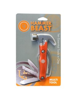 UST multi-tool with hammer Hammer Beast - 10-piece - Orange