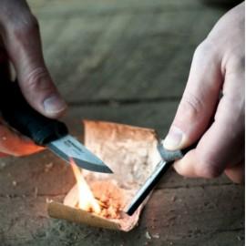 Mora survivalmes Eldris Neck Knife Sandvik staal - Groen