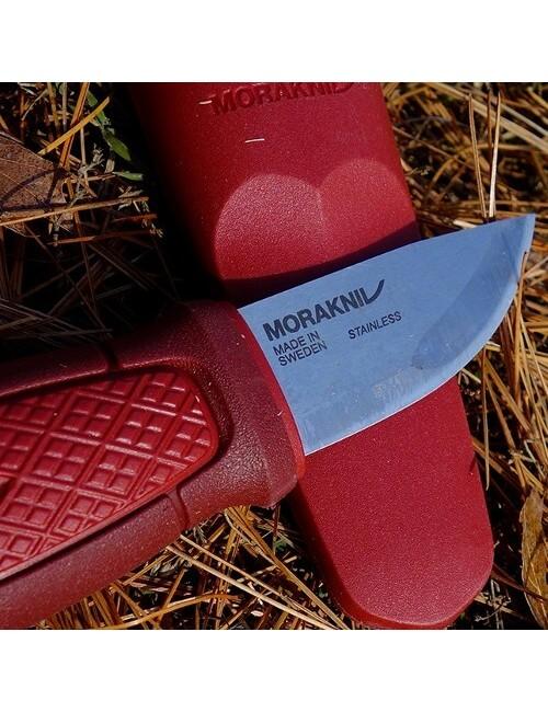 Mora survivalmes Eldris Neck Knife Sandvik staal - Rood