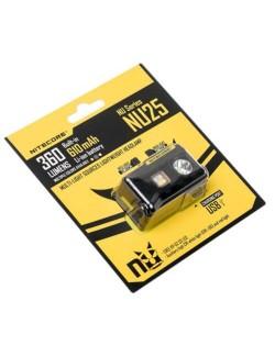 NiteCore hoofdlamp oplaadbaar NU25 360 lumen - Zwart