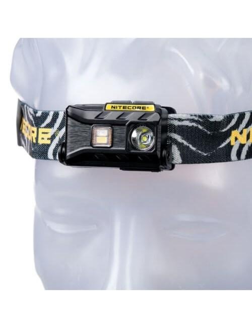 NiteCore Stirnlampe wiederaufladbare NU25 360 Lumen - Schwarz