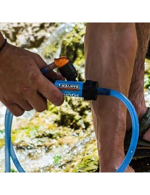 Source Water Filtering Kit Drinking Tube + Mini Sawyer