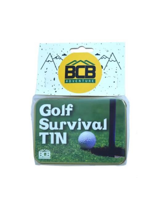 Bushcraft survivalset Golf Survival blikje - voor tijdens het golfen