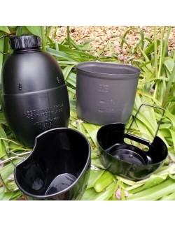 Bushcraft Multi-Combustibile di Cottura e di sistema di idratazione assicurata - Nero