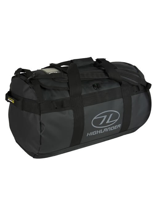 Highlander Lomond Planen Duffle Bag 65 - Schwarz