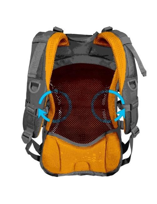 Husky zaino, Trekking, escursioni in Bicicletta, Escursionismo Skid - 30 litri - Nero