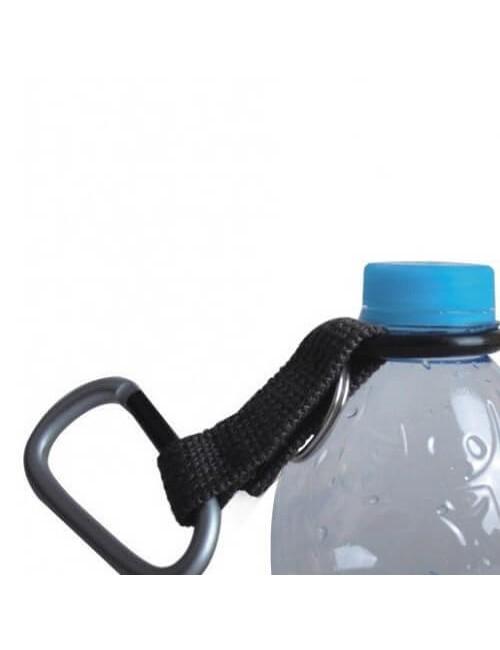Munkees carabiner met flessendrager - Zwart