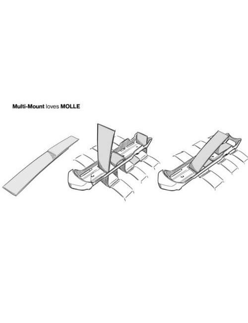 Mora survivalmes Garberg met Multi Mount Molle compatibel - Zwart