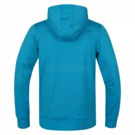 The Husky t-shirt Alony-M with hood and pocket - Blue