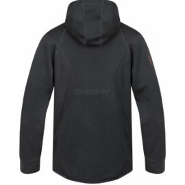 The Husky t-shirt Adera with a retractable hood and a zip - Grey