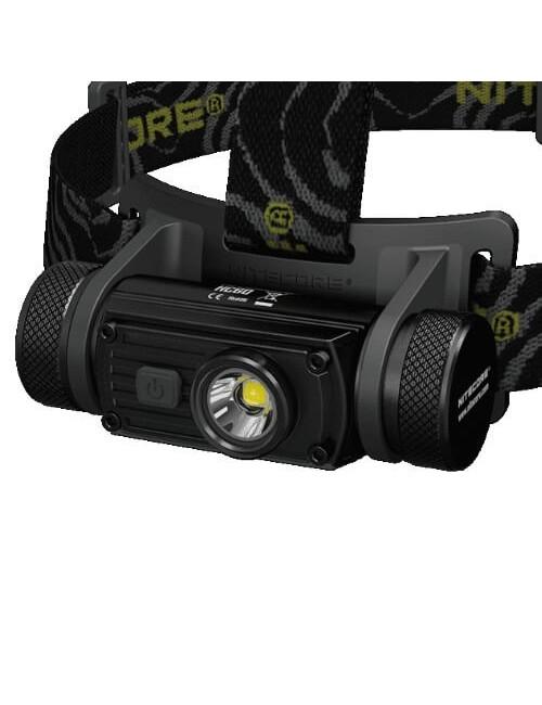 NiteCore lampe frontale HC60NW 1000 lumens CREE XM-L2 U2 LED - Noir