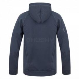 Husky sweat-shirt de l'Anah M pour les hommes avec capuche et fermeture éclair - Anthracite