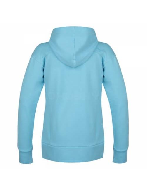 Husky sweat-shirt de l'Anah L pour les dames avec capuche et fermeture éclair - Bleu clair