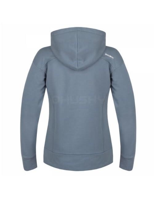 Husky sweatshirt Ana L für Damen mit Kapuze und Reißverschluss - Grau