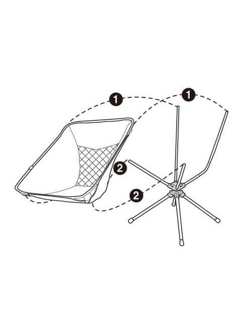 Talon campingstoel Swivel Pivot Short - drehbar - Ultra-Licht - Schwarz