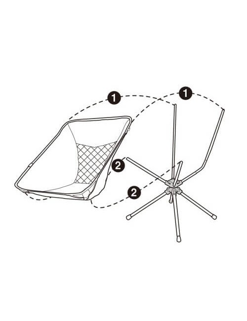 Talon campingstoel Swivel Pivot Short - rotatable - Ultra light - Black