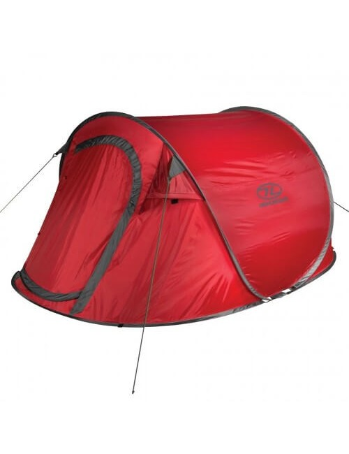 Highlander Game 3 - the Lightweight pop-up tent - for 3 Persons – Red