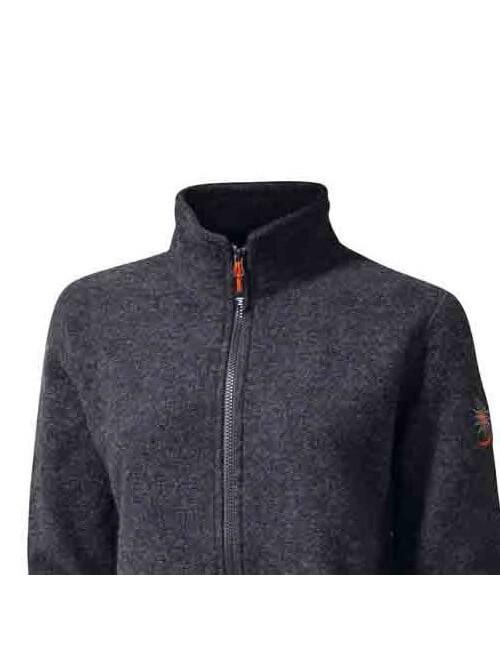 Diese Damen-Jacke, full-zip, Dieses gekochte Wolle-und-lycra -casual - Grau -