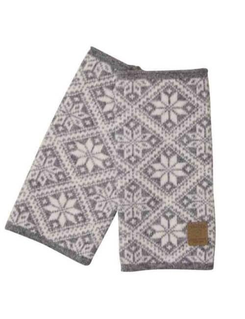 Sie gestrickte Handwärmer besteht aus einem Wolle und Elsie Grau Meliert - One Size - Grau