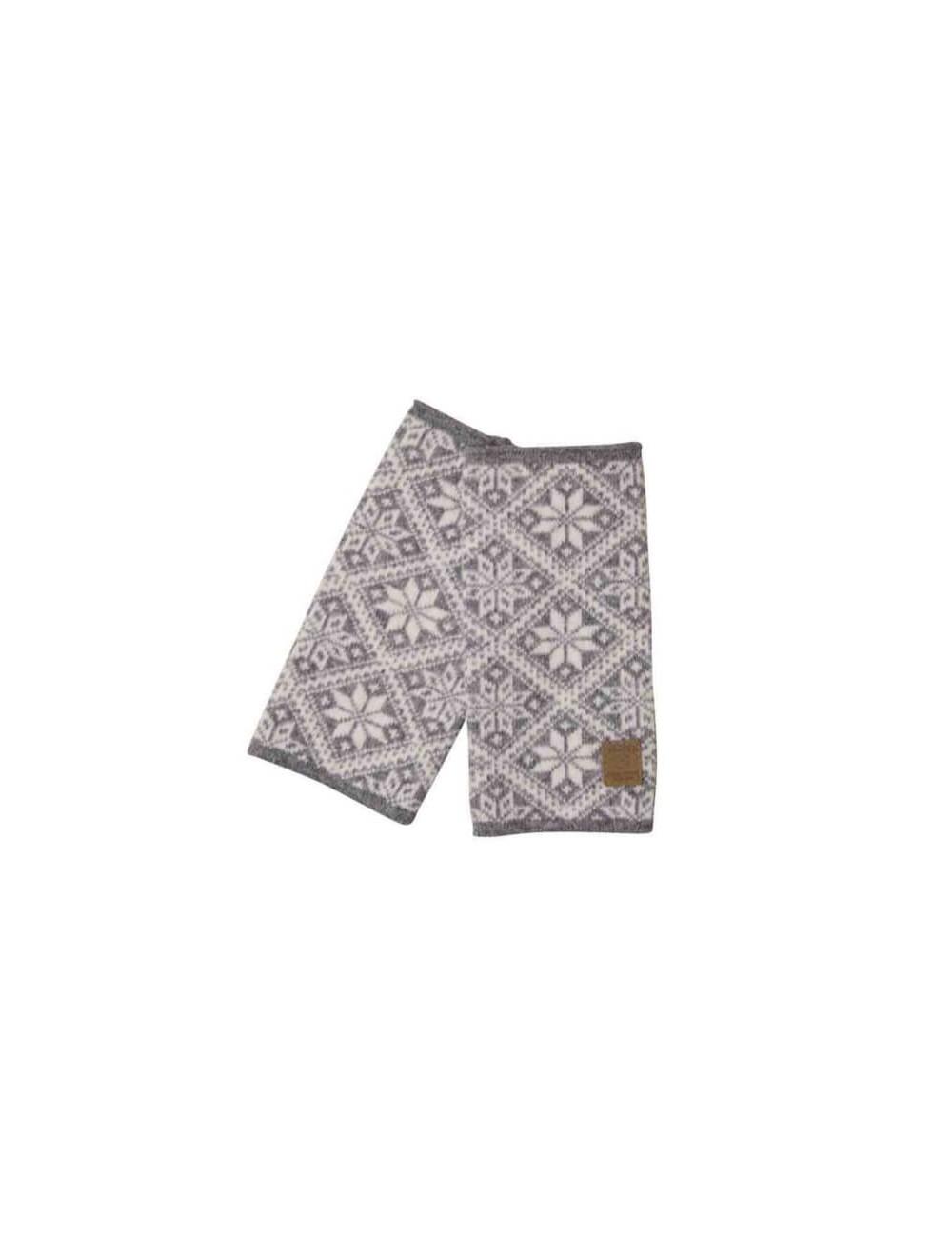 Ivanhoe gebreide handwarmer van wol Elsie Grey Marl - One Size - Grijs
