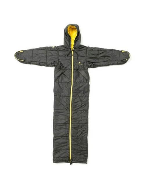 Bergstop bolsa de dormir y una chaqueta y un Cozybag Clásico - Negro-y-Amarillo