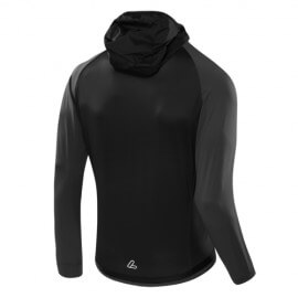 Loeffler jacket by Mountain Sports-Light Hybrid hooded jacket - Black