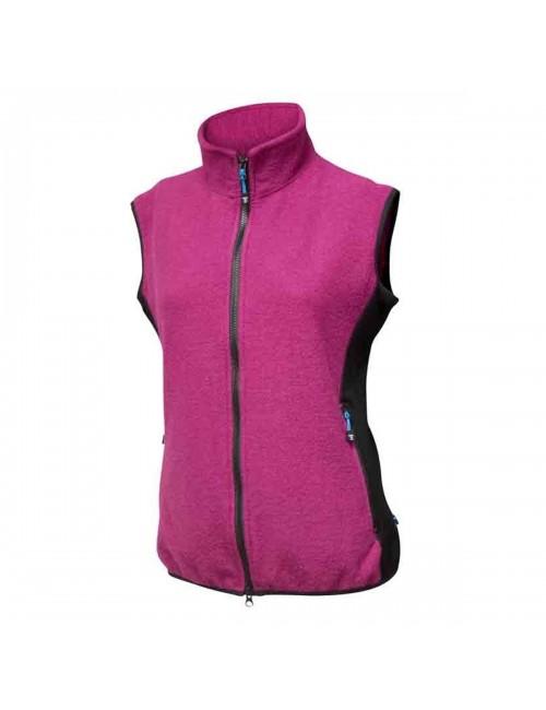 Sie Damen Jacke-Cerise gekochte Wolle mit Lycra-Gewebe - sportlich - Pink -