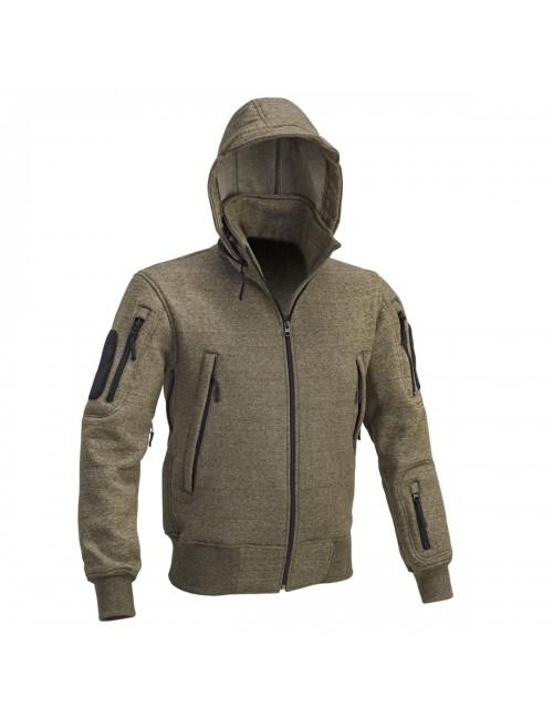 Defcon 5 hombres sudadera con capucha chaleco chaqueta Táctica chaqueta con capucha - Verde