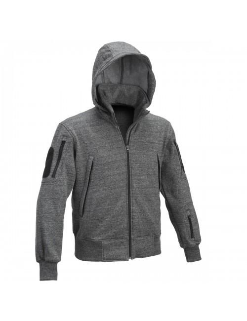 Defcon 5 hombres sudadera con capucha chaleco chaqueta Táctica chaqueta con capucha - Negro