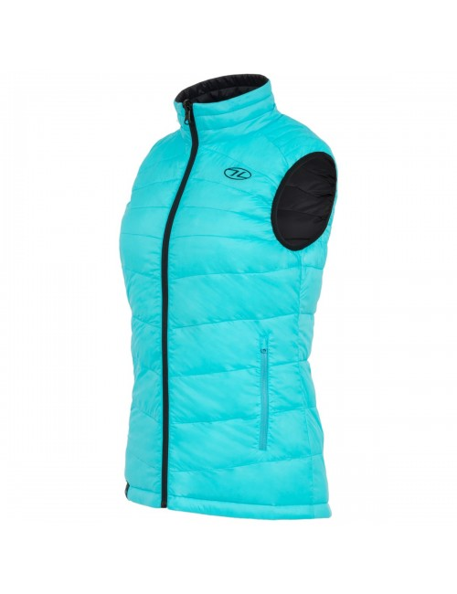 Highlander insulated vest is reversible-Reversible Vest for women Turquoise