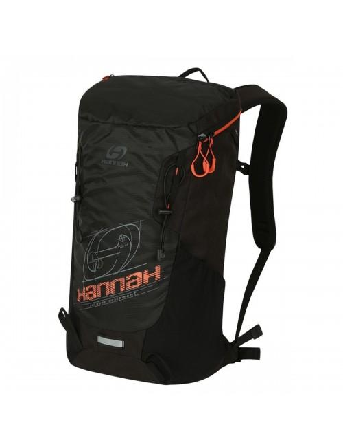Hannah al aire libre mochila Raven 28 de Aire-Ventilación - Negro con Naranja