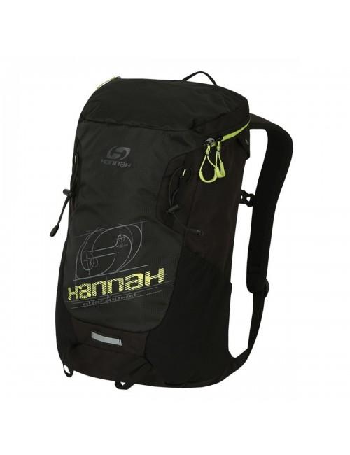 Hannah al aire libre mochila Raven 28 de Aire-Ventilación - Negro con Verde Lima