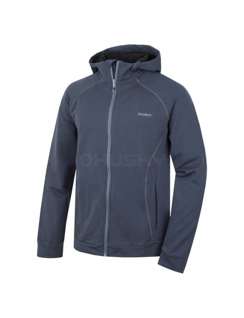 Husky sweatshirt Anah M for men with hood and zipper - Anthracite