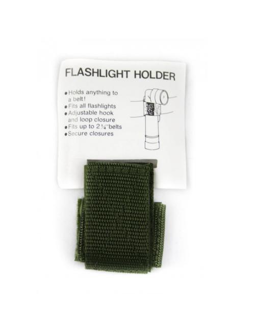 Fosco hoeklamphouder met klittenband - Leger Groen