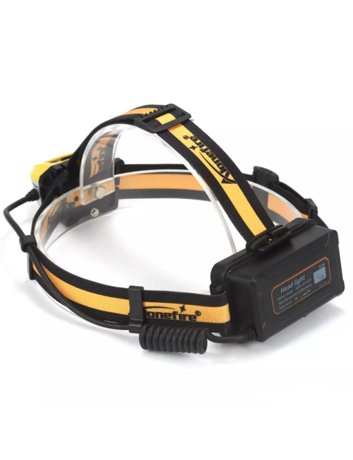 Alonefire hoofdlamp HP B7 LED 350 lumen - Zwart - Geel