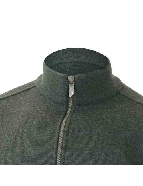 Ivanhoe windbreaker Assar WB-Riffle Green, with front zip merino wool To 2020 - Green
