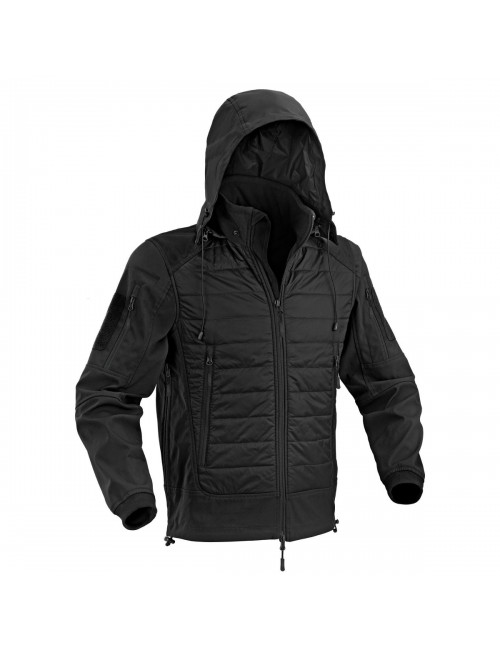 Defcon 5 jas Urban Shell Jacket met capuchon - Zwart