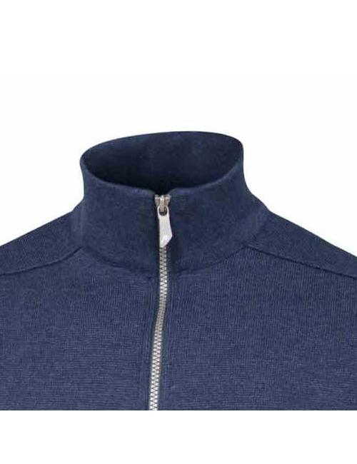 Ivanhoe windbreaker Assar WB, Steel Blue, with front zip merino wool To 2020 - Blue