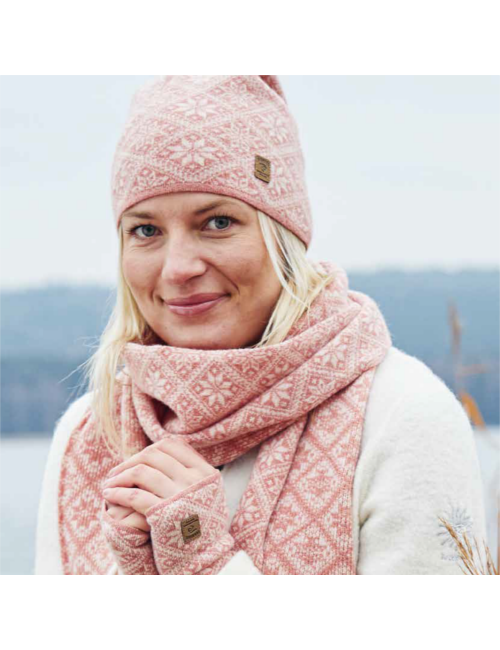 Ivanhoe gebreide sjaal van wol Elsie Red Plum 2020 - One Size 185x27 Rood