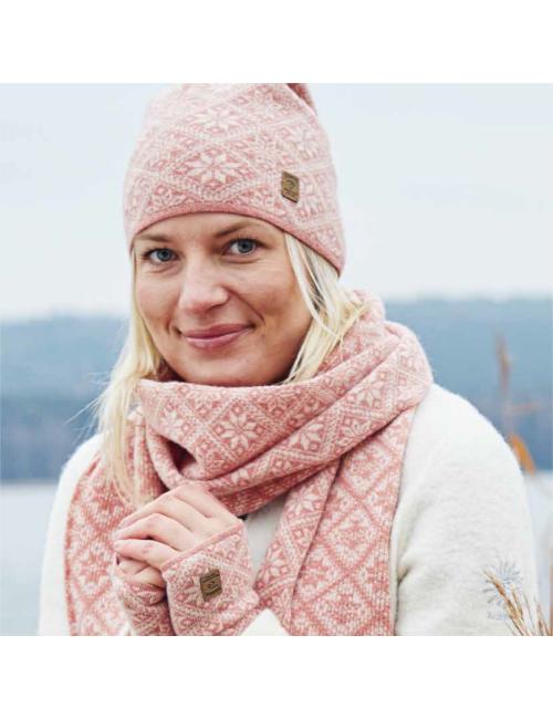 Ivanhoe gebreide sjaal van wol Elsie Navy 2020 - One Size 185x27 Blauw
