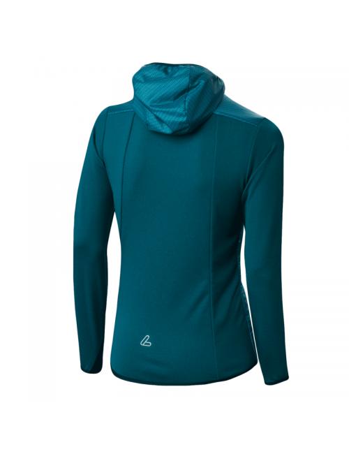 Loeffler jacket, women's-W Hooded Jacket-Speed Beach Primaloft Blue