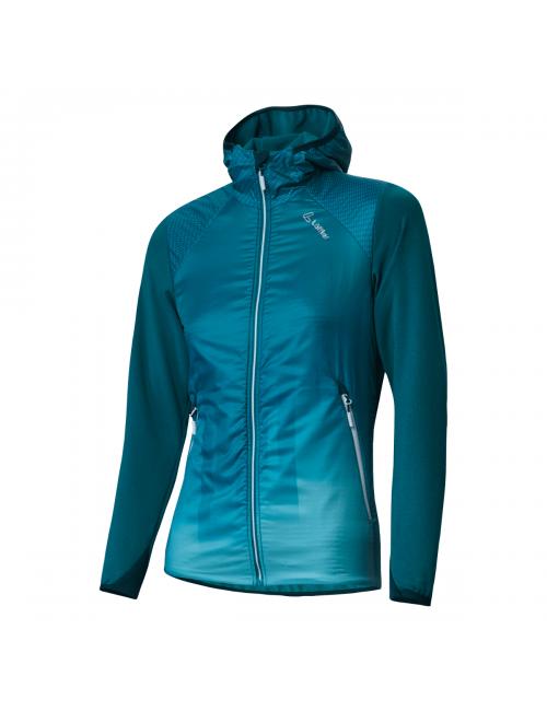 Loeffler chaqueta de las mujeres-W con Capucha de la Chaqueta de la Velocidad de la Playa de Primaloft Azul