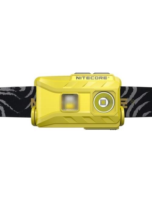 NiteCore Stirnlampe wiederaufladbare NU25 360 Lumen, Gelb