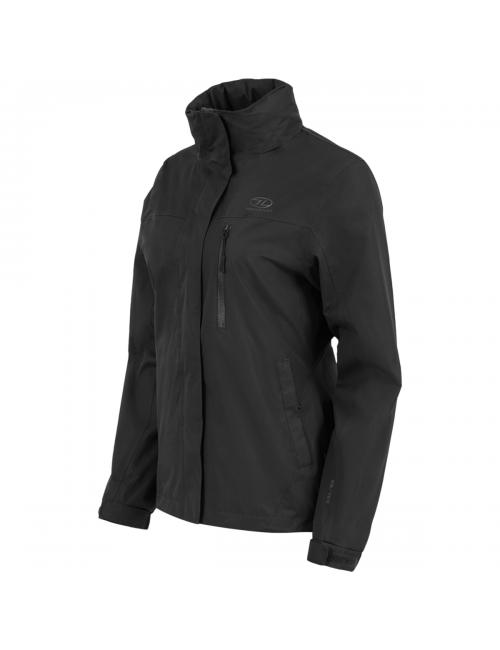 Highlander chaqueta al aire libre, Kerrera Chaqueta-mujer - chaqueta de lluvia - Negra