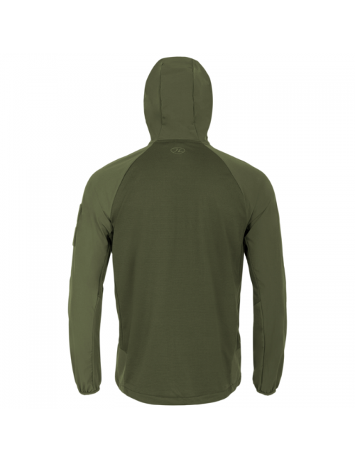 Highlander Tactical Hirta Hybrid midlayer shirt jacket for men - Green
