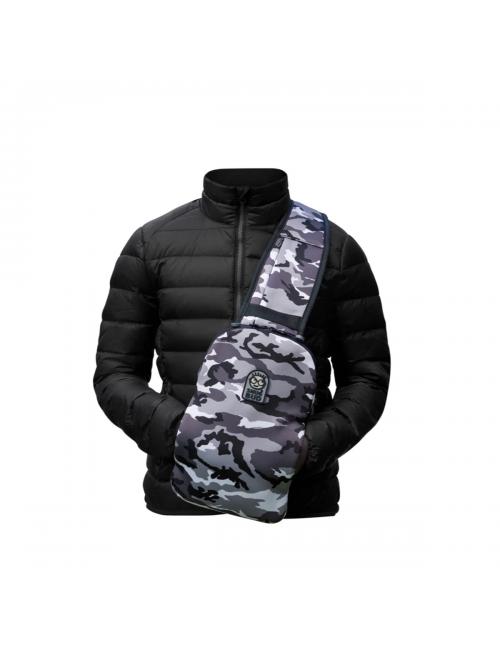 Snugbud Junior – vest-backpack-with heat-jar, – Urban-Camo