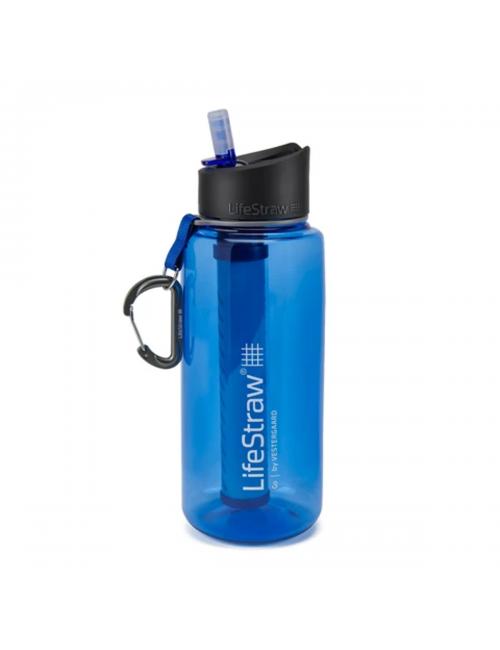LifeStraw waterfilterfles Gehen, 1 Liter, Blau